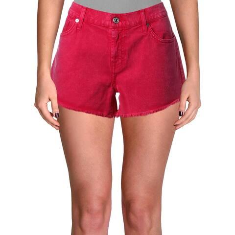 7 For All Mankind Womens Cutoff Shorts Denim Colored