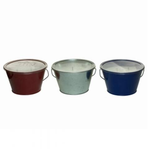 Tiki 1414064 Americana Triple Wick Citronella Candle Bucket, Assorted, 28 Oz