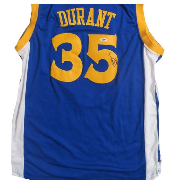 factory authentic 787e7 77861 Kevin Durant Autographed Warriors Signed Basketball Jersey PSA DNA COA 2