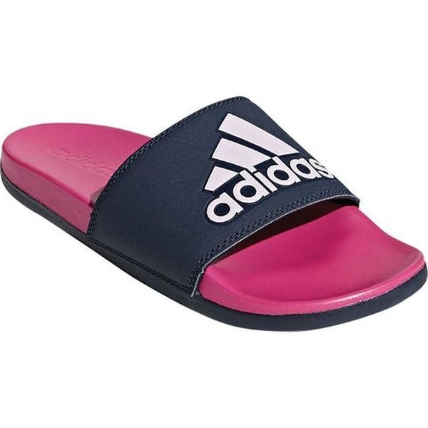 0b573729c0dc adidas Women  x27 s Adilette Cloudfoam PLus Logo Slide Sandal Shock Pink  S16