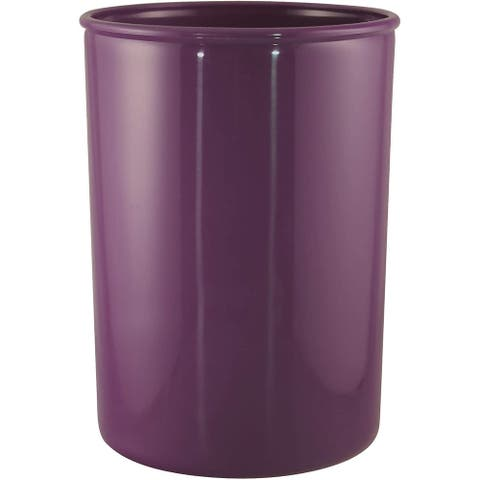 "Reston Lloyd Calypso Basics Plastic Utensil Holder, Plum - 4 3/4"" x 6 1/2"