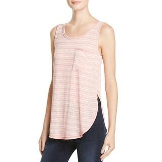Aqua Womens Casual Top Striped Sleeveless