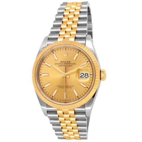 Pre-owned 36mm 18K Yellow Gold and Steel Datejust Watch