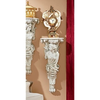 French Baroque Caryatid Facing Left Wall Sculpture DESIGN TOSCANO france paris