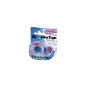 Lee Removable Highlighter Tape Refill, 1/2 X 393 in, Purple