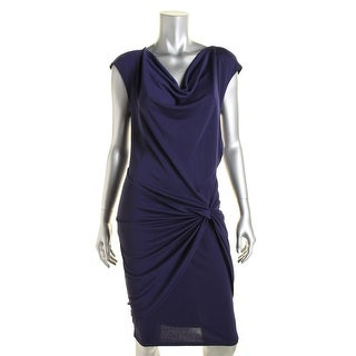 Robert Rodriguez Womens Cowl Neck Knot-Front Wear to Work Dress