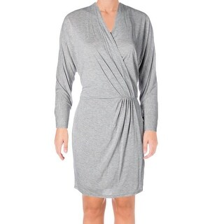 Haute Hippie NEW Gray Womens Size Medium M Surplice Knit Sheath Dress