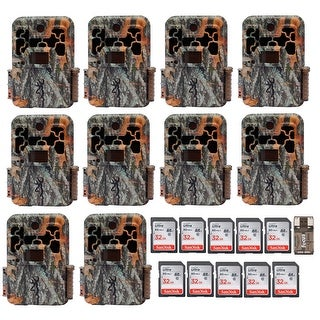 Browning Trail Cameras Spec Ops Extreme with 32GB Card (10-Pack) Bundle - Camouflage