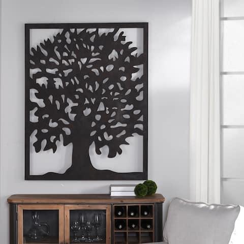 StyleCraft Black Tree Metal Wall Art