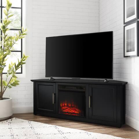"Camden 58"" Corner Tv Stand W/Fireplace - 58 W x 20 D x 22 H"