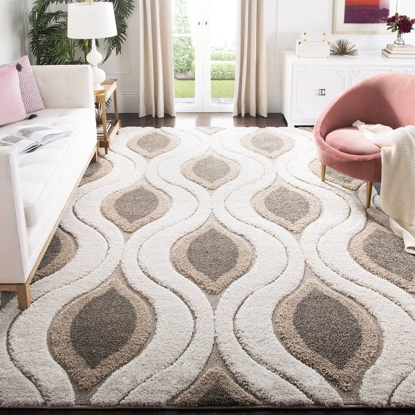 Safavieh Florida Shag Bertille Geometric 1.2-inch Thick Rug. Opens flyout.