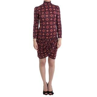 GF Ferre GF Ferre Multicolor Longsleeved Turtleneck Viscose Dress