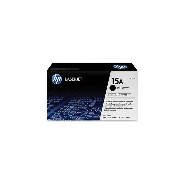HP 15A Black Original LaserJet Toner Cartridge (C7115A) (Single Pack)