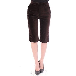 Dolce & Gabbana Brown Cotton Solid Pattern Shorts Pants - it36