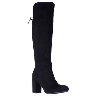 Indigo Rd. Treaty Over The Knee Back Lace Boots - Black