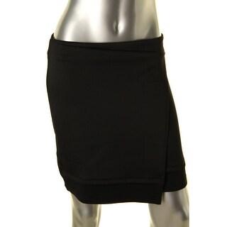 Rachel Rachel Roy Womens Asymmetrical Scuba Mini Skirt