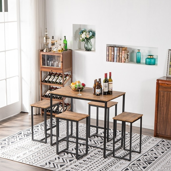 Carbon Loft Harden Walnut Finish 5-piece Counter Height Pub Dining Set. Opens flyout.