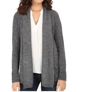 Splendid NEW Gray Women Size Medium M Lurex Open Front Cardigan Sweater