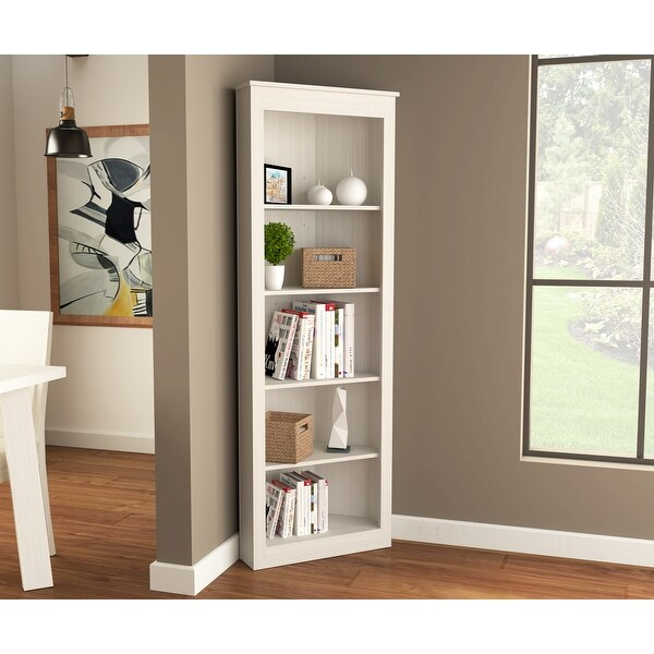 Inval 71-inch 5 Shelf Engineered Wood Corner Bookcase. Opens flyout.
