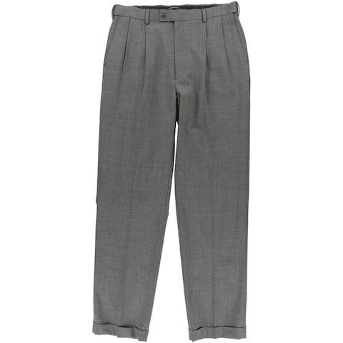 Louis Raphael Mens Straight Dress Pants Slacks, Grey, 34W x 34L - 34W x 34L