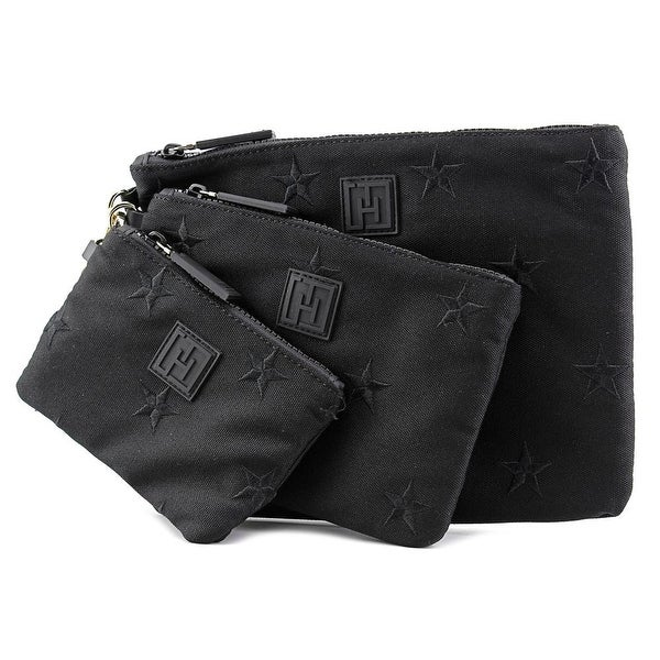 Tommy Hilfiger 3 Pouch Set    Canvas  Cosmetic Bag - Black
