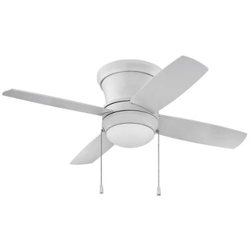 "Ellington Fans LAVH44W4 Laval Hugger 44"" 4 Blade AC Motor Indoor Ceiling Fans with Light Kit Included"