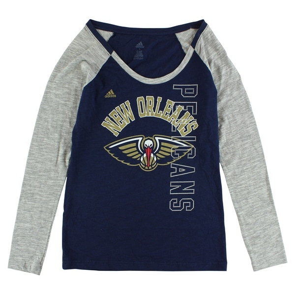 150c6730 Adidas Womens New Orleans Pelicans Team Liquid Shirt Blue - blue/gray/tan