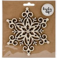 Kaisercraft  Snowflake Lucky Dip Wood Flourish - 4.75 x 4.75 in.