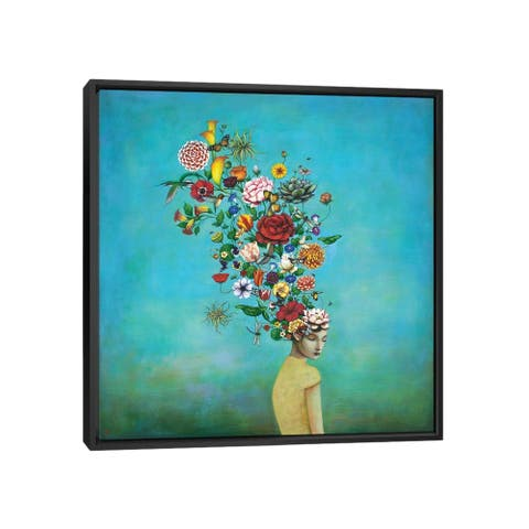 """iCanvas """"A Mindful Garden"""" by Duy Huynh Framed Canvas Print"""