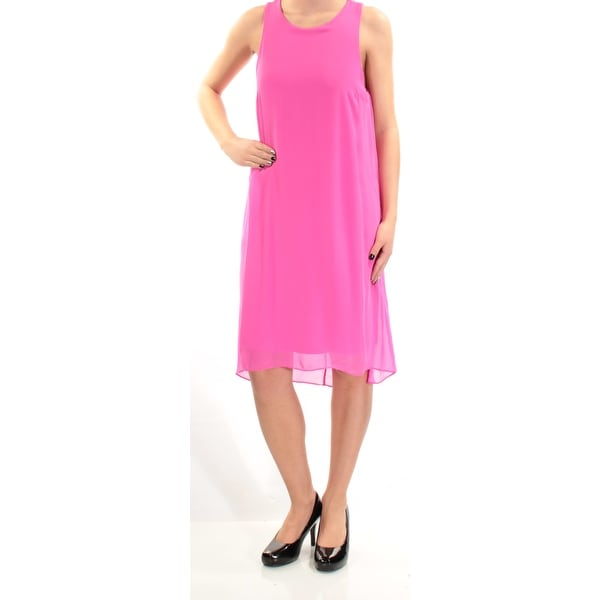 75f7f3282d Shop VINCE CAMUTO Womens Pink Sleeveless Jewel Neck Below The Knee Shift  Dress Size: XS - Free Shipping On Orders Over $45 - Overstock - 21239035