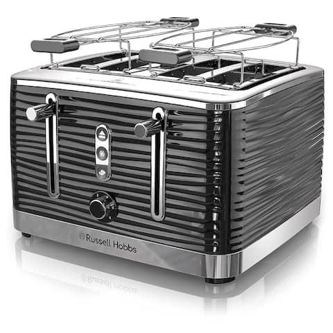 Russell Hobbs Old School 4 Slice Toaster in Black