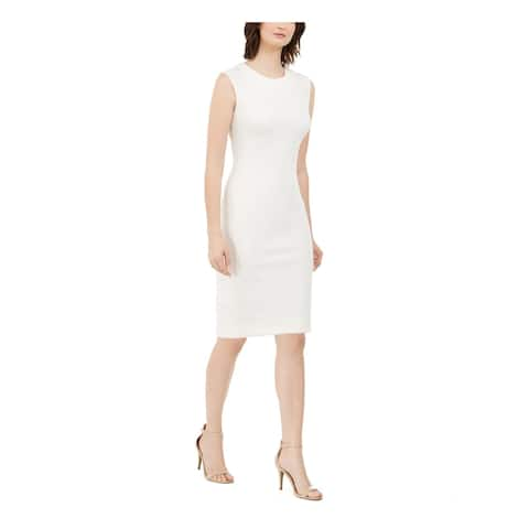 NATORI Ivory Sleeveless Above The Knee Dress 12