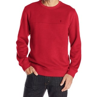 IZOD NEW Red Jester Mens Size XL Crewneck Long Sleeve Pullover Sweater