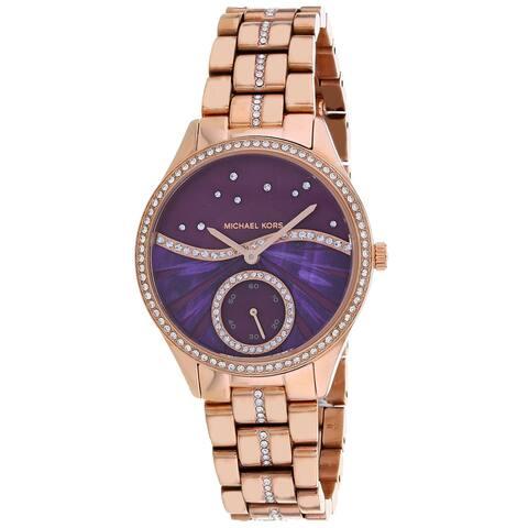 Michael Kors Women's Lauryn Purple Dial Watch - MK4437 - One Size