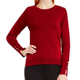 Vince Camuto NEW Red Women's Size Medium M Crewneck Pullover Sweater