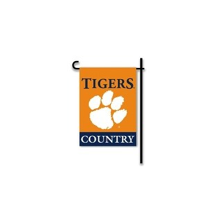 Bsi Products Inc Clemson Tigers 2-Sided Country Garden Flag Garden Flag