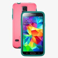 Otterbox Symmetry Case for Samsung S5 - Teal Rose (Blaze Pink/Light Teal)