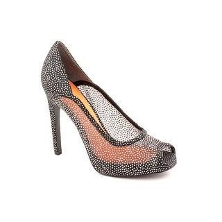 Via Spiga Orla Women Peep-Toe Canvas Gray Heels