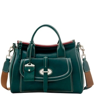 Dooney & Bourke Florentine Toscana Front Pocket Satchel (Introduced by Dooney & Bourke at $568 in Sep 2016) - pine green