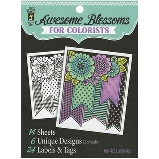 """Hot Off The Press Coloring Book 5""""X6""""-Awesome Blossoms"""