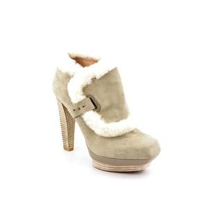 Rachel Roy Farona Women Square Toe Suede Gray Ankle Boot