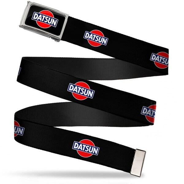 Classic Datsun Logo Fcg Black Red Blue White Chrome Classic Datsun Web Belt