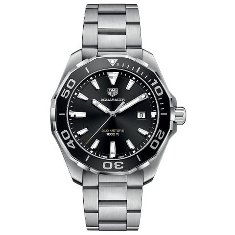 Tag Heuer Men's WAY101A.BA0746 'Aquaracer' Stainless Steel Watch - Black