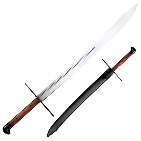 Coldsteel 88gms cold steel grosse messer with leather scabbard