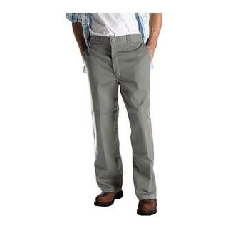 """Dickies Men's Loose Fit Double Knee Work Pant 34"""" Inseam Silver Grey"""