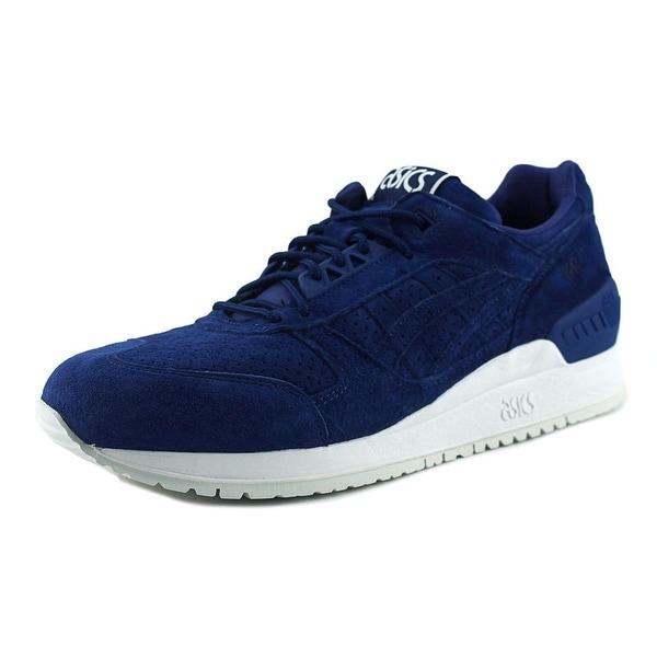 Asics Gel-Respector Men Round Toe Suede Blue Sneakers