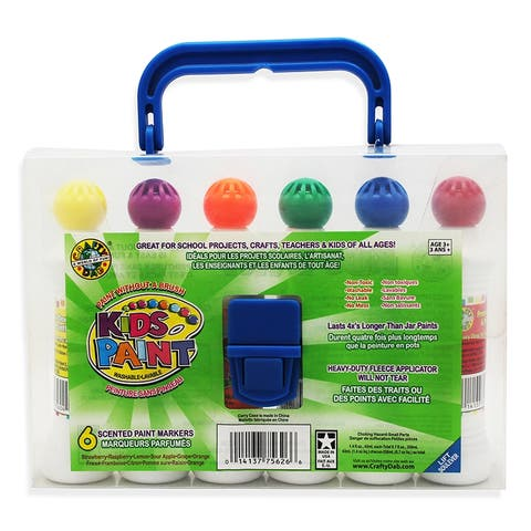 Crafty Dab Paint 6 Pk W/Carrying