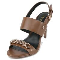 Coach Womens RAQUELLA Leather Open Toe Special Occasion Slingback Sandals