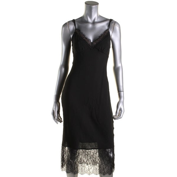c87fd11302b08 Shop Diane Von Furstenberg Womens Margarit Slip Dress Silk Lace Trim ...