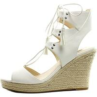 GUESS Womens Lamba3 Open Toe Special Occasion Platform Sandals